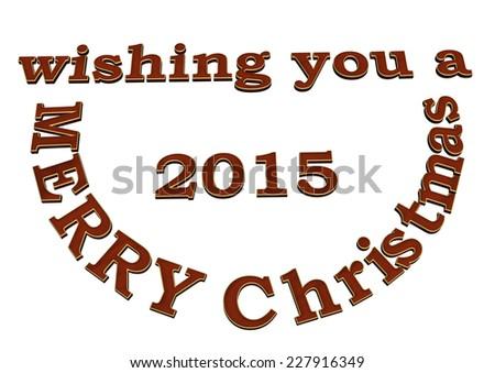 3d text wishing you Merry Cristmas design. - stock photo