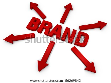 3D Text with arrows. Part of a series of business concepts. - stock photo