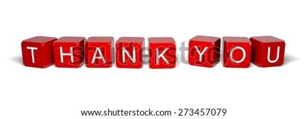 3D. Thank You, Gratitude, Cube. - stock photo