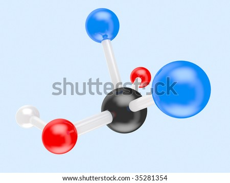 3d the diagrammatic representation of a structure of a molecule