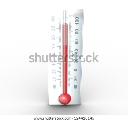3d thermometer - stock photo