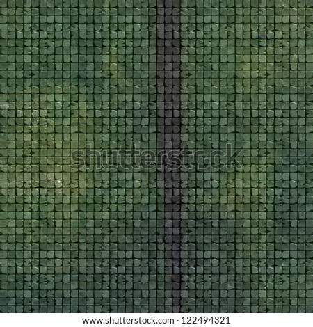 3d tile mosaic wall floor in green grunge stone