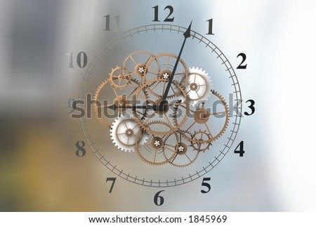 3D Time Face - stock photo