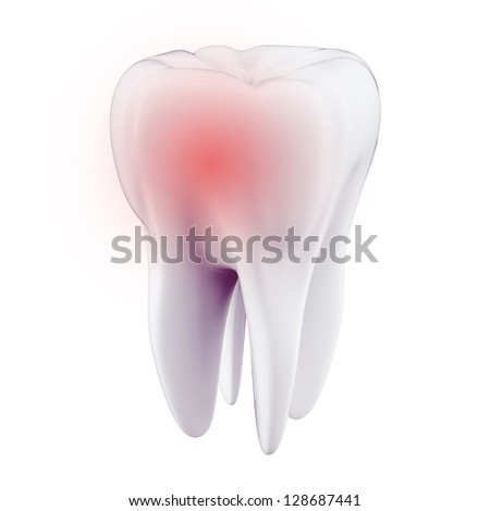 3D toothache concept - stock photo