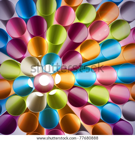 3d Top View of Straws