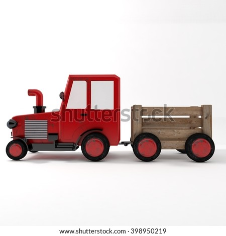 3d tractor side