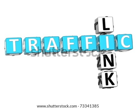 3D Traffic Link Crossword on white background - stock photo