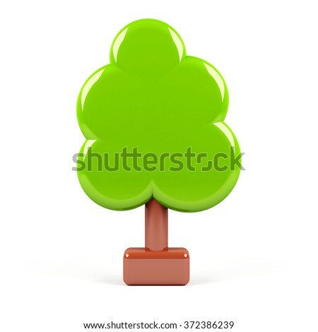 3d tree isolated on white.  - stock photo