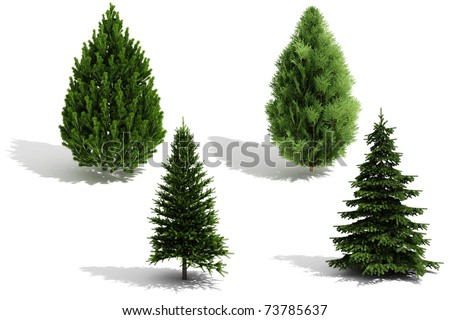 3d tree pack - render on white background
