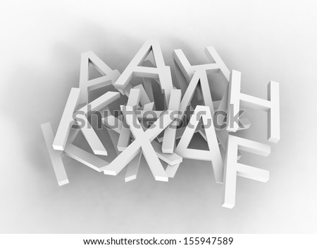 3d typography background - stock photo