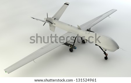 3D UAV - stock photo