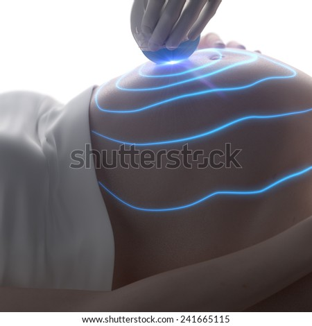 3D ultrasound during pregnancy concept - stock photo