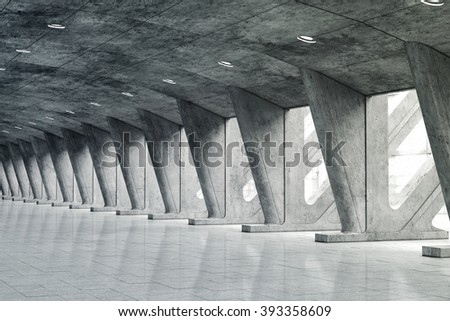 3d underground abstract background - stock photo