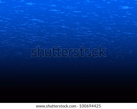 3D underwater scene with moving surface. - stock photo