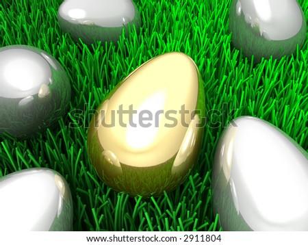 3d--Unique egg - stock photo