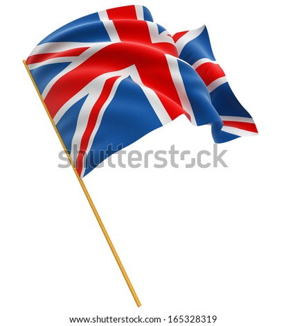 3D United Kingdom Flag (clipping path included) - stock photo