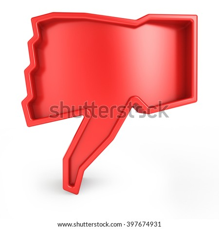 3d unlike symbol isolated white background - stock photo