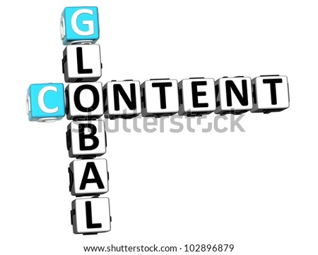 3D User Content Crossword on white background