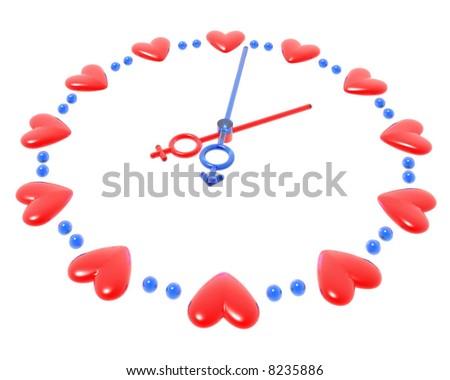 3D valentines watch - stock photo