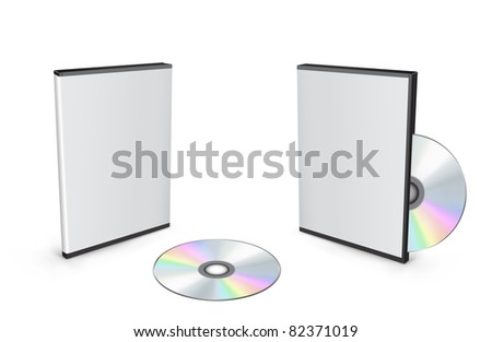 3d vector mesh disc boxes isolated on the white background - stock photo