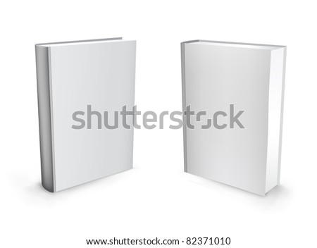 3d vector white standing mesh books isolated on the white background - stock photo