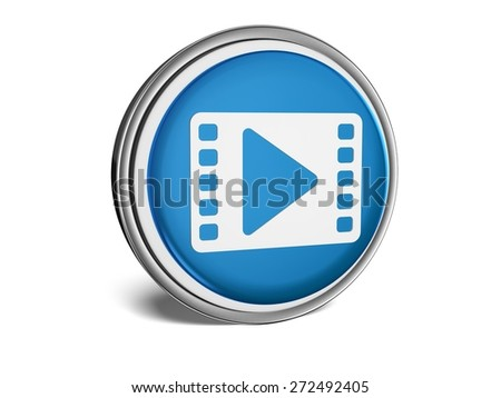 3D. Video, Symbol, Play. - stock photo