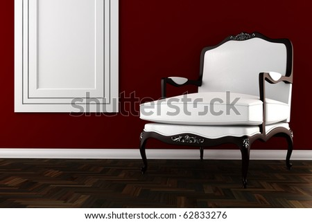 3d vintage armchair - stock photo