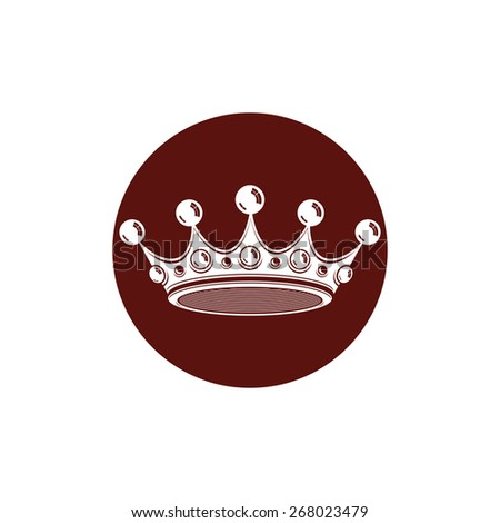 3d vintage crown, luxury coronet illustration. Classic imperial and VIP symbol, for use in advertising and design. - stock photo