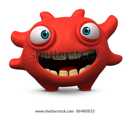 3d virus - stock photo