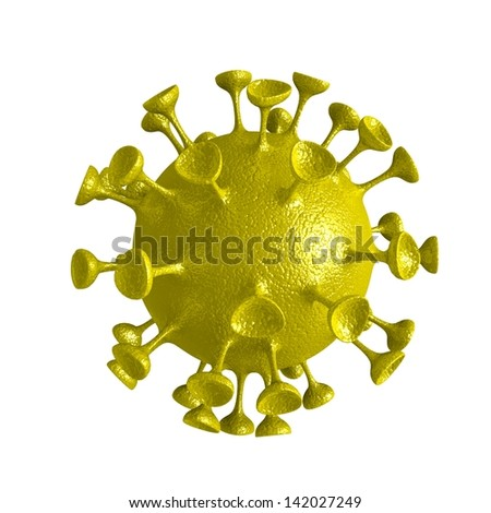 3d Viruses on a white background. - stock photo