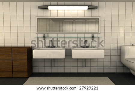 3d visualization of bathroom interior