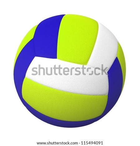 3d Volleyball ball isolated on white