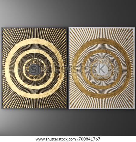 3D Wall Art Picture Of Gold Leaf