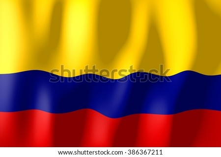 3D waving flag of Colombia. - stock photo