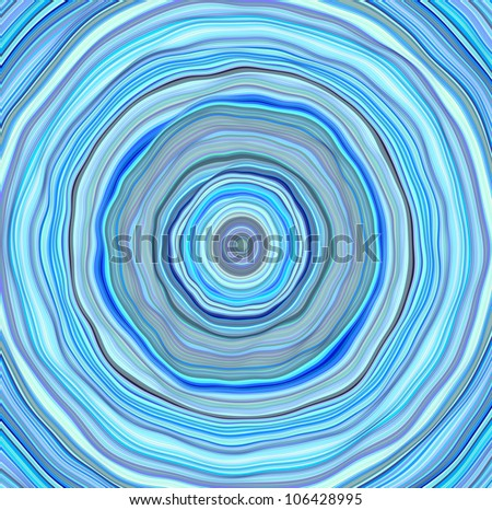 3d wavy concentric pipes tube abstract blue hole backdrop - stock photo