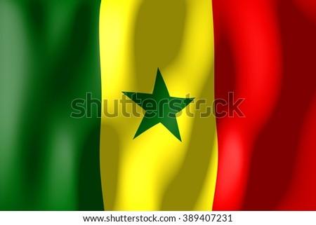 3D weaving flag - Senegal. - stock photo