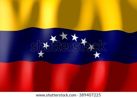 3D weaving flag - Venezuela. - stock photo