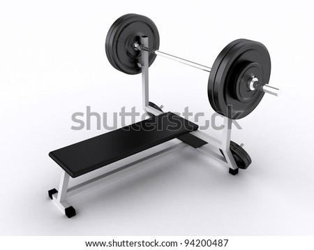 3D Weight Training Simulator - stock photo