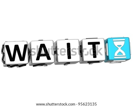 3d Whait Block text over white background. - stock photo
