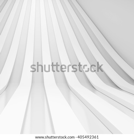 3d White Abstract Background. Modern Minimal Design