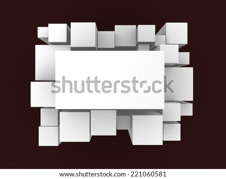3d white abstract background - render illustration - stock photo