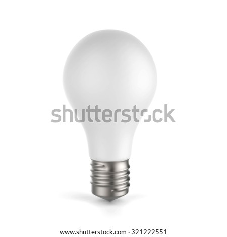 3d white blank light bulb