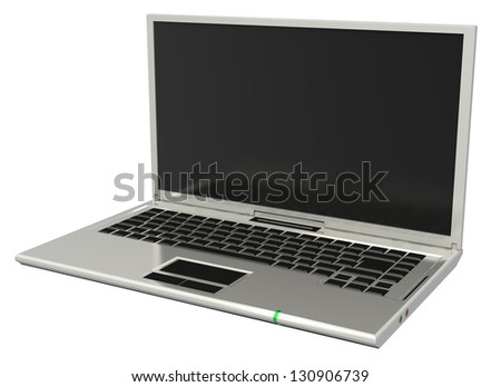 3d white blank notebook isolated on white background - stock photo