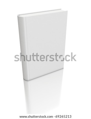 3d white book - stock photo