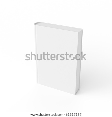 3d white book isolated on white - stock photo