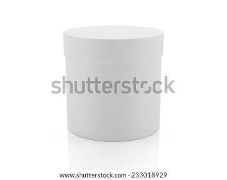 3D white cylinder, box, packaging design  - stock photo