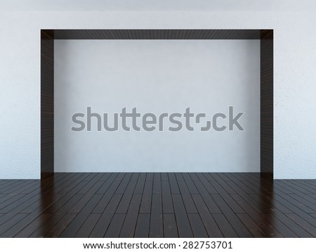 3d white empty room