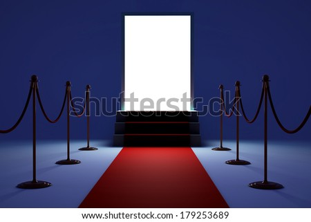 3D White podium on dark background