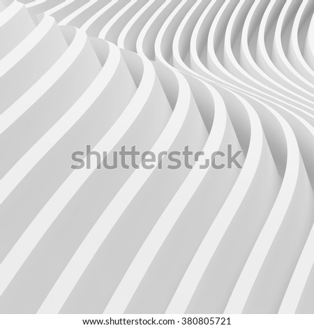 3d White Wave Background. Abstract Background - stock photo