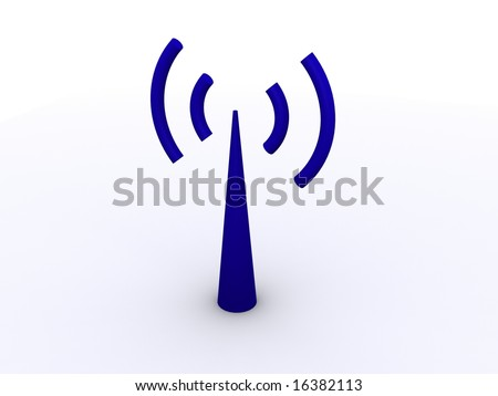 3D wi-fi antenna icon
